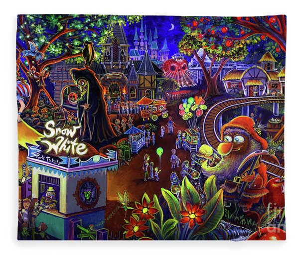 Snow White Amusement Park Fleece Blanket