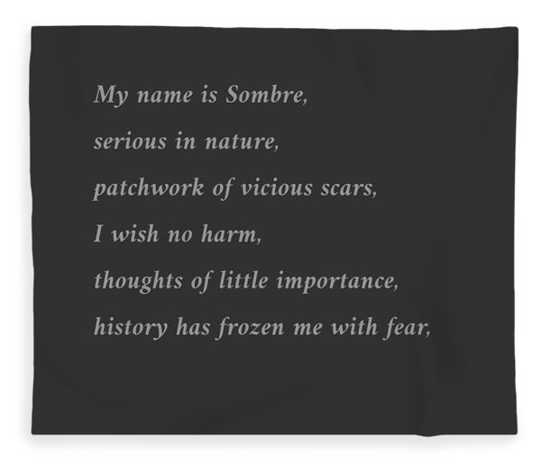 Sombre Fleece Blanket