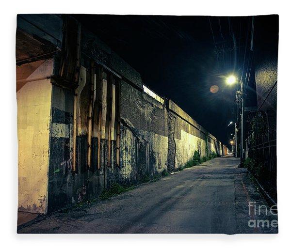 Somewhere In The Night Fleece Blanket