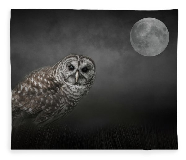 Soul Of The Moon Fleece Blanket