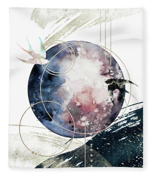Fleece Blanket featuring the digital art Space Operetta by Bee-Bee Deigner