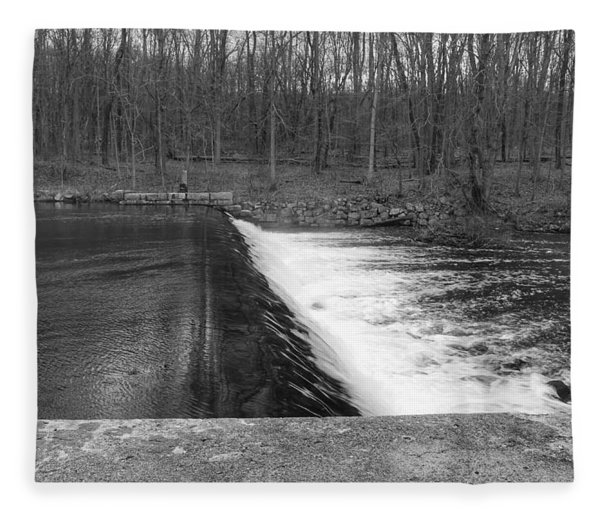 Spillway At Waterloo Village Fleece Blanket