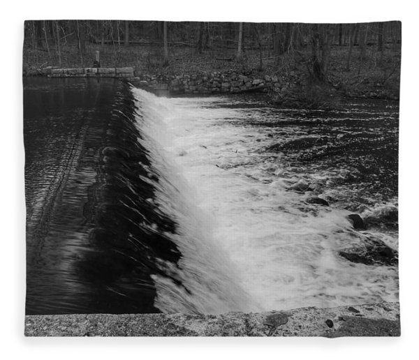 Spillway In Detail - Waterloo Village Fleece Blanket