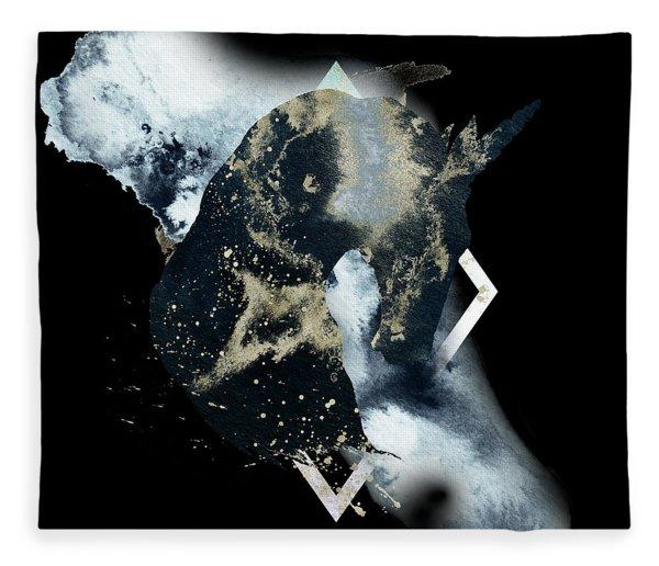 Fleece Blanket featuring the digital art Spirit Animal by Bee-Bee Deigner