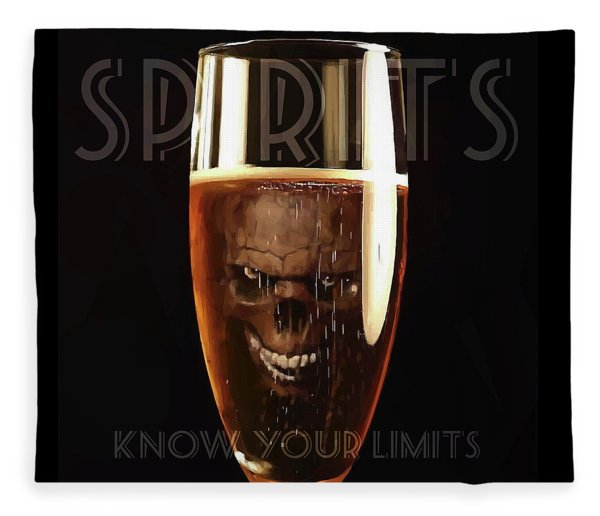 Fleece Blanket featuring the digital art Spirits - Know Your Limits by ISAW Company