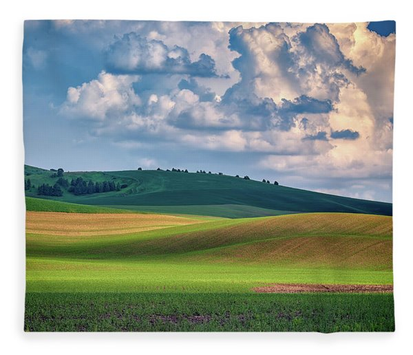 Spring Afternoon In The Palouse Fleece Blanket
