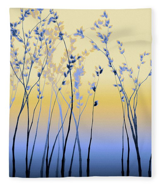 Fleece Blanket featuring the digital art Spring Aspen by Susan Maxwell Schmidt