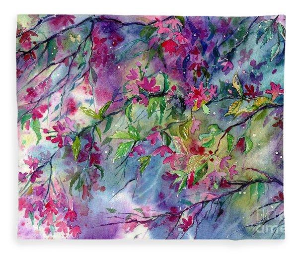Spring Storm Fleece Blanket