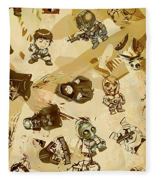 Star Wars Sticker Wall Fleece Blanket