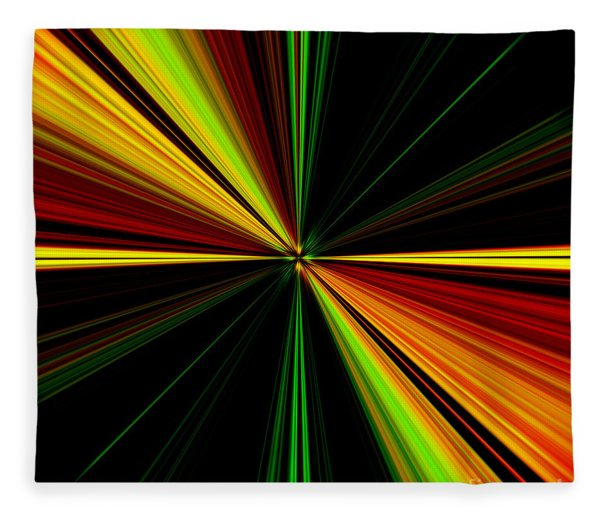 Starburst Light Beams Design - Plb461 Fleece Blanket