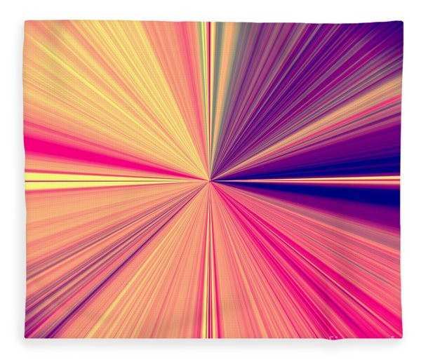 Starburst Light Beams In Abstract Design - Plb457 Fleece Blanket