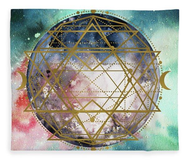 Fleece Blanket featuring the digital art Starchild by Bee-Bee Deigner