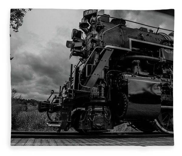 Steam Loco 765 Fleece Blanket