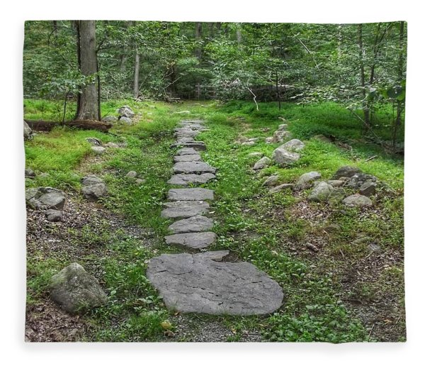 Stepping Stone Path - Kinnelon Fleece Blanket