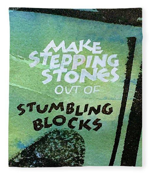 Stepping Stones Fleece Blanket