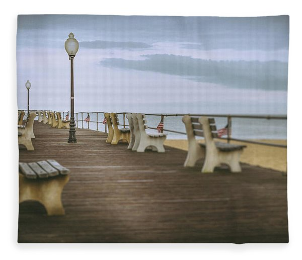 Stormy Boardwalk 2 Fleece Blanket