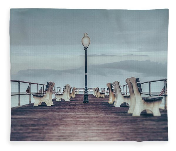 Stormy Boardwalk Fleece Blanket