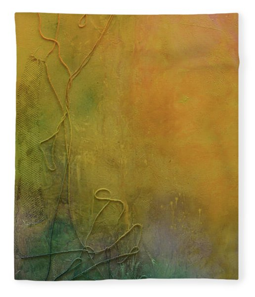 Strands Of Time Float Into The Mist Fleece Blanket