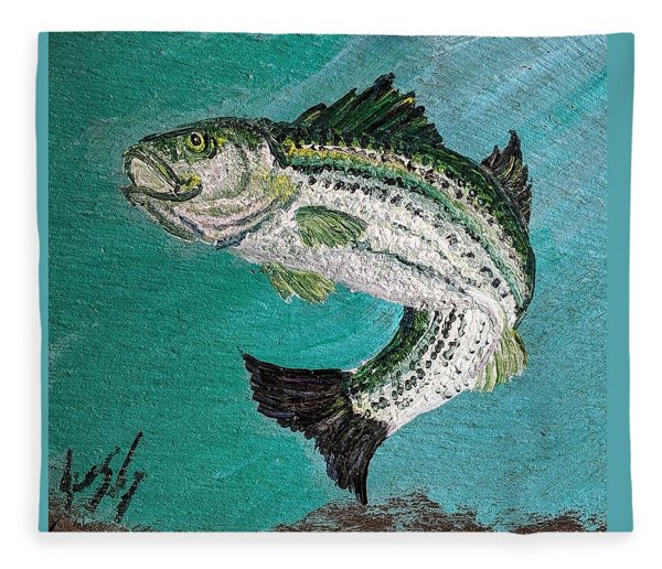 Striper #2 Fleece Blanket
