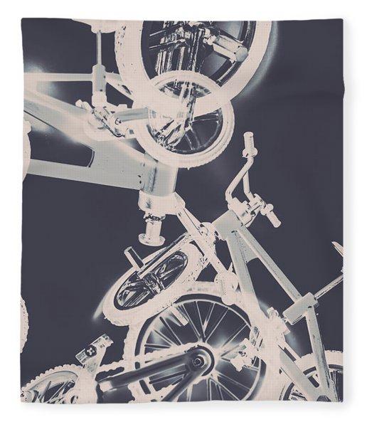 Stunt Bike Trickery Fleece Blanket