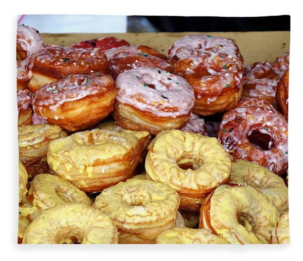 Sugar Frosted Donuts On Sale Fleece Blanket