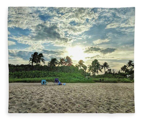 Sun And Sand Fleece Blanket