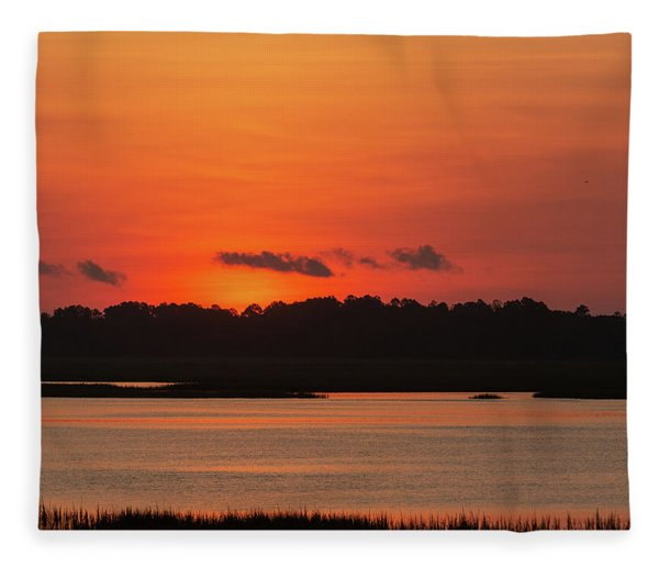 Sunrise Over Drunken Jack Island Fleece Blanket