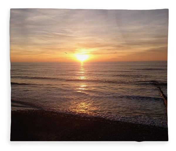 Sunset Blackpool Fleece Blanket
