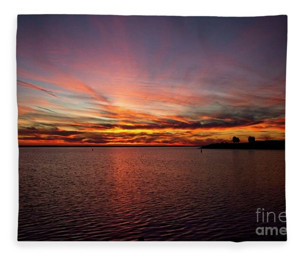 Sunset Over Canada Fleece Blanket