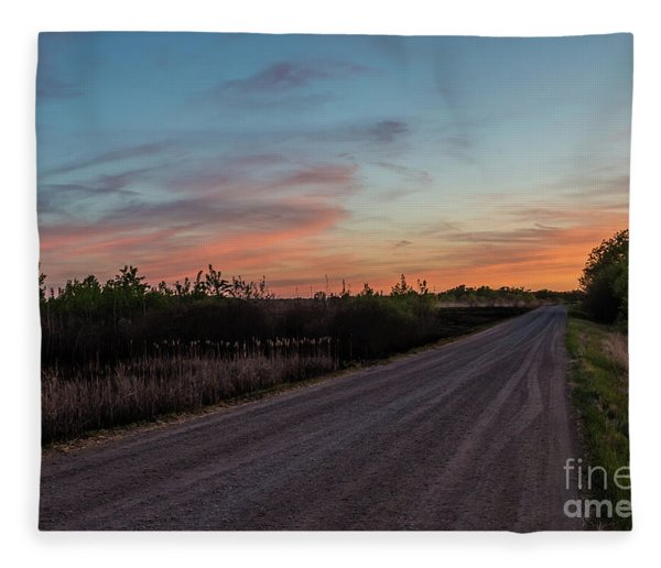 Sunset Road Fleece Blanket