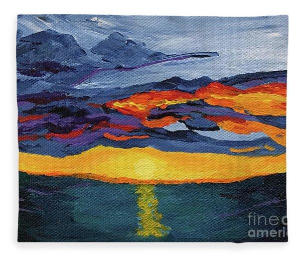 Sunset Streak Fleece Blanket