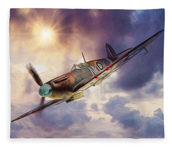 Supermarine Spitfire Fleece Blanket