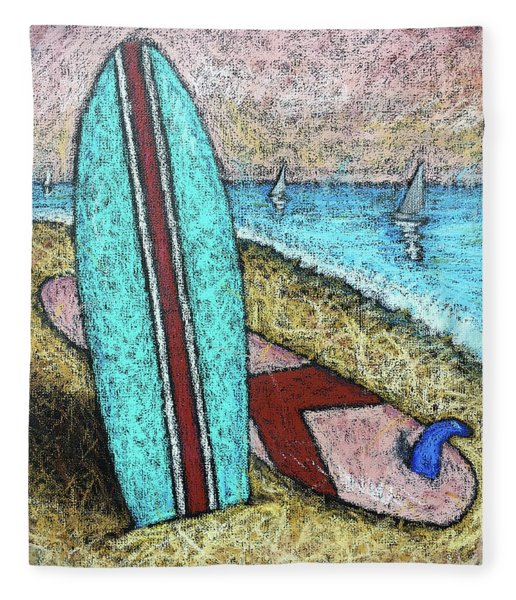 Surfing And Sailing Fleece Blanket