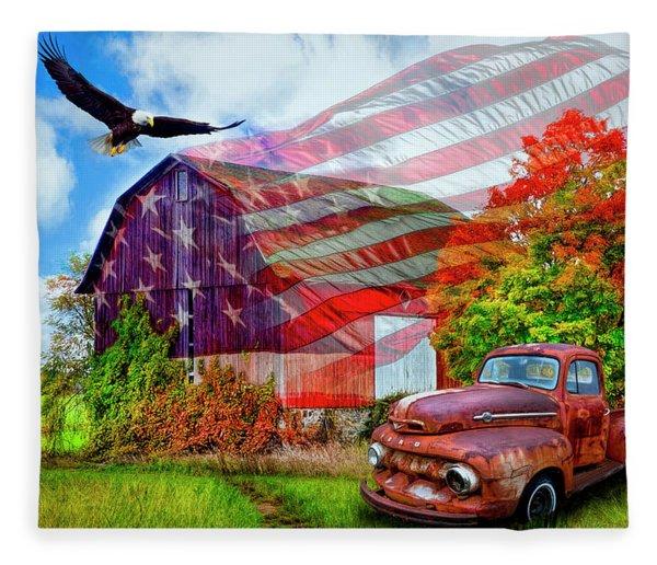 Sweet Land Of Liberty Fleece Blanket