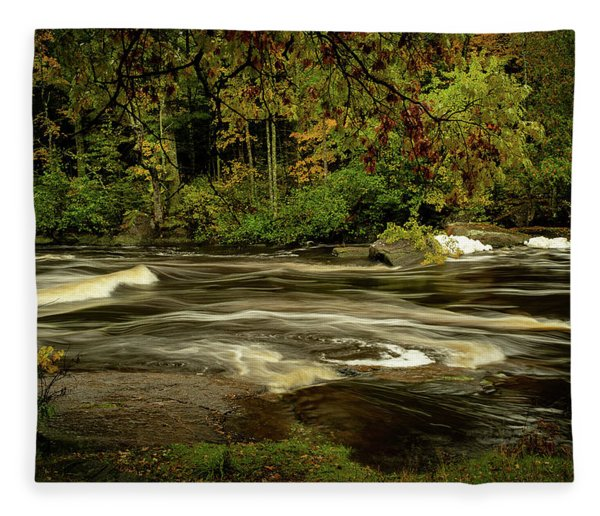 Swirling River Fleece Blanket