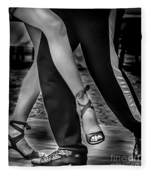 Tango Of Feet Fleece Blanket