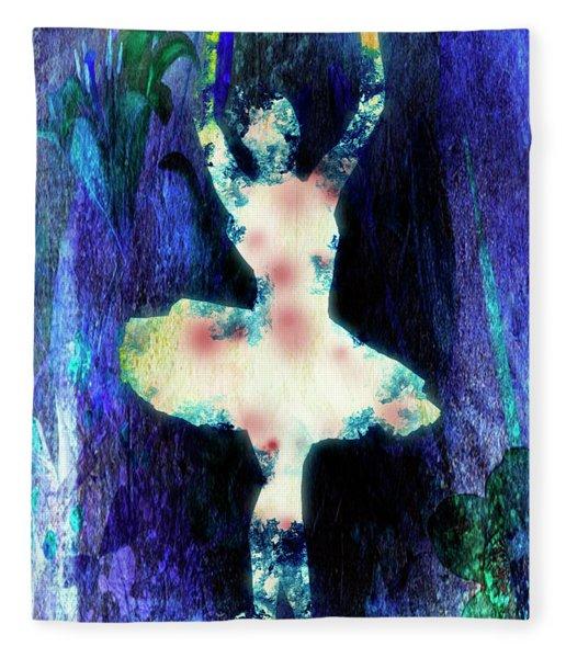 The Ballet Dancer Fleece Blanket