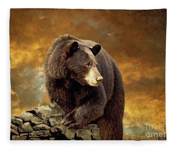 The Bear Went Over The Mountain Fleece Blanket