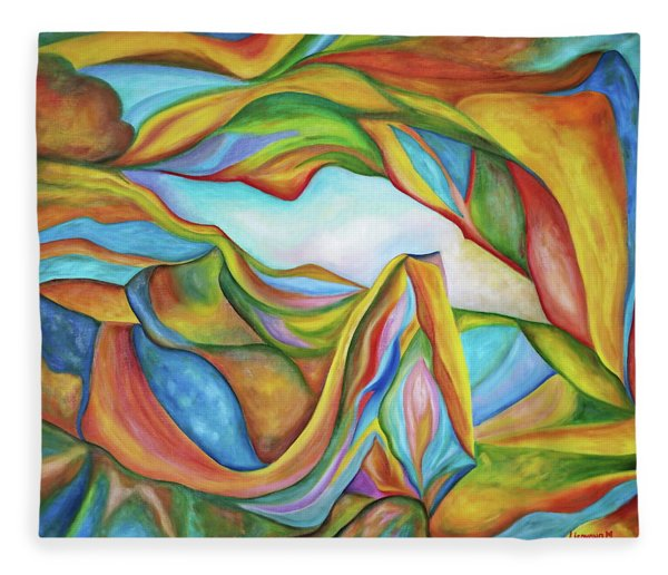 The Beginning. Colorful. Colorful And Over 30 Monochromatic. Fleece Blanket
