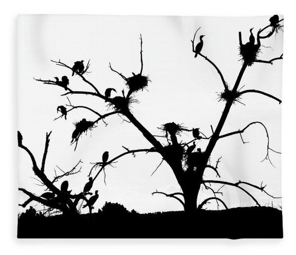 The Birds Fleece Blanket