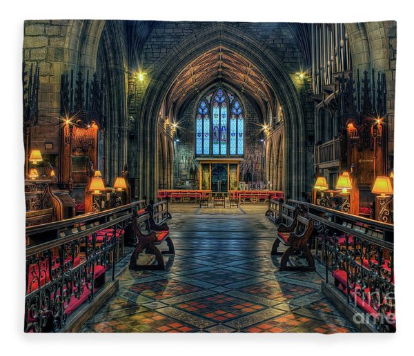 The Cathedral Church Of Saints Asaph And Cyndeym Fleece Blanket
