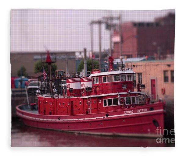 The Fireboat Edward M. Cotter. Fleece Blanket