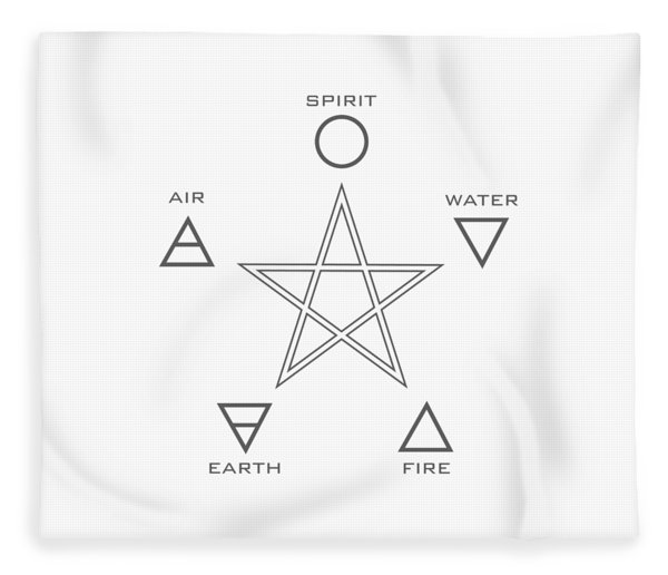 The Five Elements And 5 Pointed Star- Hidden Meaning Of The Star Fleece Blanket