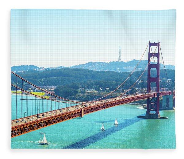 The Golden Gate Bridge I Fleece Blanket