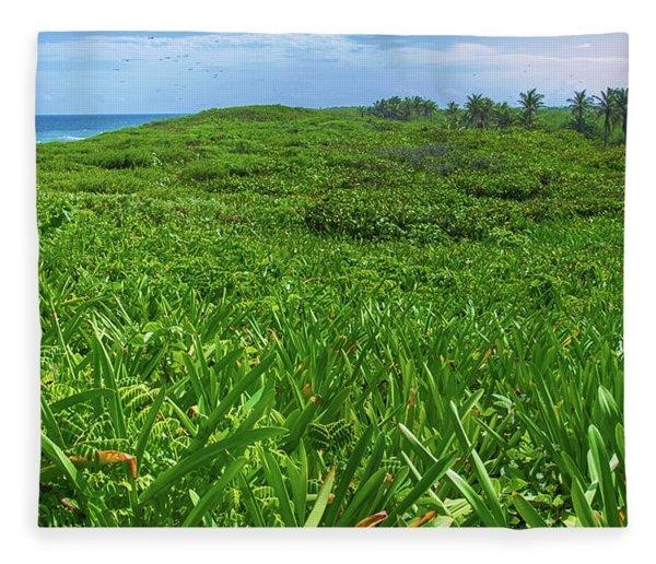 The Green Island Fleece Blanket