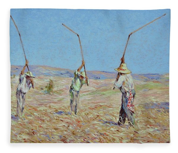 The Haymakers - Pierre Van Dijk 70x90cm Oil Fleece Blanket