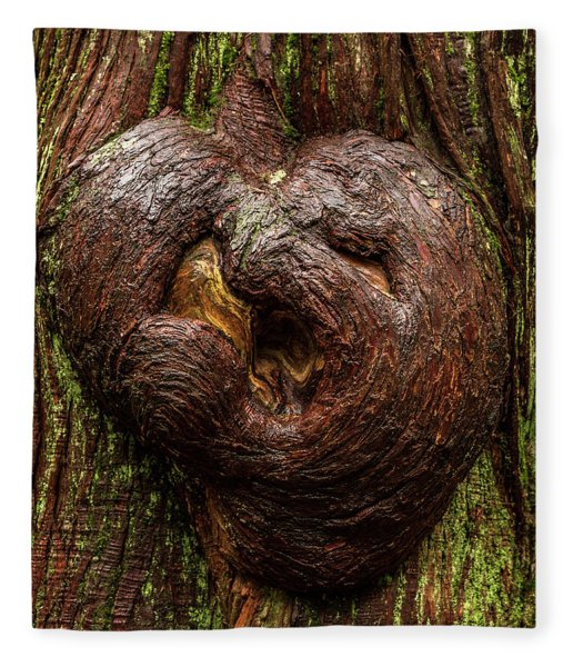 The Heart Of The Forest Fleece Blanket
