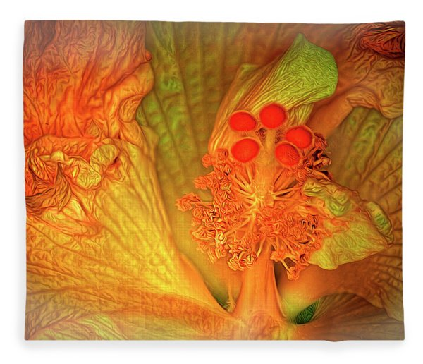 The Hibiscus Fleece Blanket