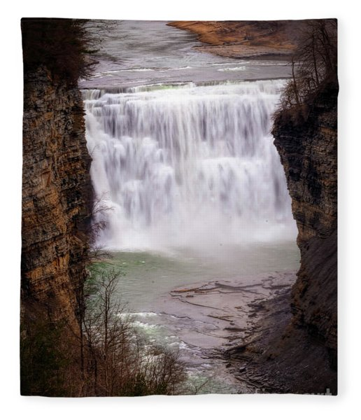 The Middle Falls Fleece Blanket
