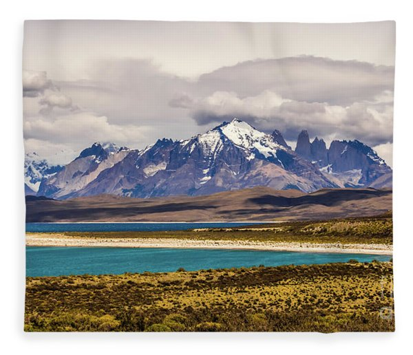 The Mountains Of Torres Del Paine National Park, Chile Fleece Blanket
